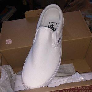 Brand New White Slip-on Vans